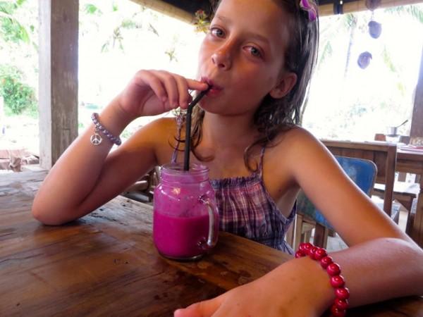 Bali dragonfruit juice